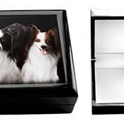 Papillon Hund Schmuck Box - 1
