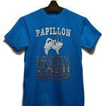 Hund Papillon Herren T-Shirt - Royal S - 1