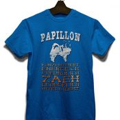 Hund Papillon Herren T-Shirt - Royal S - 1