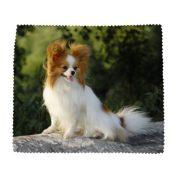 Papillon Hund, inkl. Mikrofaser-Reinigungstuch - 1