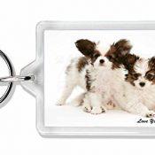Papillon Hunde 'Love You Dad' Foto Schlüsselbund TierstrumpffüllerGeschenk