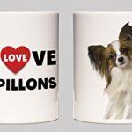 I Love Papillons Hundezucht-Keramik-Becher (Englisch) - 1