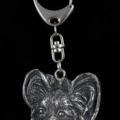 Papillon, Hund, Silber, Schmuckanhänger, Anhänger, Schlüsselanhänger, Limitierte Edition, Art Dog - 1