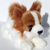 Papillon braun/weiß Hund 25 cm Kuscheltier Schmusehund Stoffhund