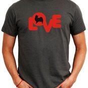 LOVE SILHOUETTE Papillon Herren T-Shirt - 1