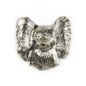 Papillon (Gesicht) Hergestellt in U.K. Kunstvolle Hunde- Anstecknadel Sammlung