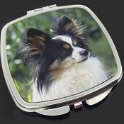 Papillon Hund Make-up Taschenspiegel Weihnachtsgeschenk - 1