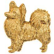 Papillon Hergestellt in U.K. Kunstvolle Hunde- Brosche Sammlung (22 Karat Vergoldung / gold plattiert) - 1